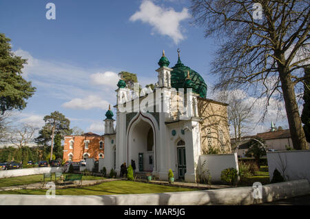 Shah Jahan mosque in Woking. First mosque in the UK - Stock Photo