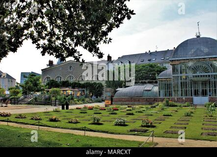 Jardin des Plantes (Botanical garden) of Nantes, Loire Atlantique, Pays de la Loire region, France - Stock Photo