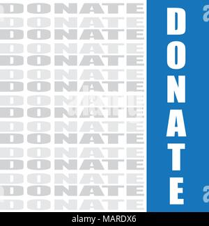 donate word, vector background - Stock Photo