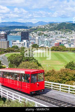 NEW ZEALAND WELLINGTON NEW ZEALAND wellington cable car wellington skyline wellington new zealand north island - Stock Photo