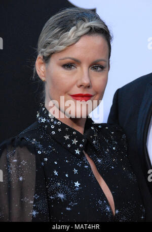 WESTWOOD, CA - APRIL 03: Actress Kathleen Robertson attends the premiere of Universal Pictures' 'Blockers' at Regency Village Theatre on April 3, 2018 in Westwood, California. - Stock Photo