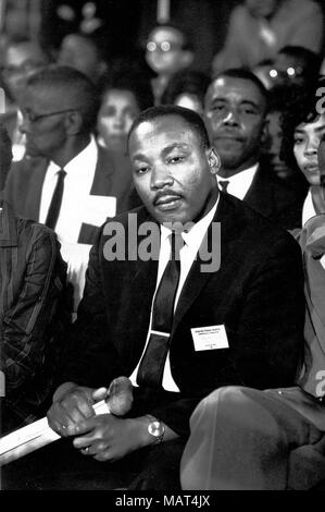 File. 4th Apr, 2018. Reverend MARTIN LUTHER KING JR. was fatally shot by J. Earl Ray at 6:01 p.m., April 4, 1968, as he stood on second-floor balcony of Lorraine Hotel in Memphis Tennessee. Pictured: Aug. 25, 1964 - Atlantic City, NJ, USA - Reverend Martin Luther King Jr. (1929-1968) was a prominent leader of the African American Civil Rights Movement. Tragically King was assassinated on April 4, 1968 on the balcony of the Lorraine Motel. Pictured: MLK, Jr. at the National Democratic Convention in Atlantic City. (Credit Image: © Keystone Press Agency/Keystone USA via ZUMAPRESS.com)