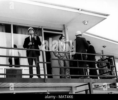 File. 4th Apr, 2018. Reverend MARTIN LUTHER KING JR. was fatally shot by J. Earl Ray at 6:01 p.m., April 4, 1968, as he stood on second-floor balcony of Lorraine Hotel in Memphis Tennessee. Pictured: April 4, 1968 - Memphis, Tennessee, U.S. - The balcony of room #306 of the Lorraine Motel in Memphis, Tennessee, where Reverend Martin Luther King Jr. was shot dead on April 4th, 1968. (Credit Image: © Keystone Press Agency/Keystone USA via ZUMAPRESS.com)