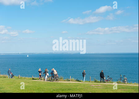 Landscape at the Brodtener steep coast, Travemunde, Baltic Sea, Schleswig-Holstein, Germany, Europe - Stock Photo