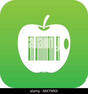 Code to represent product identification icon digital green - Stock Photo