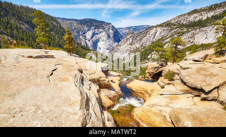 Panoramic view of the Yosemite National Park, California, USA. - Stock Photo