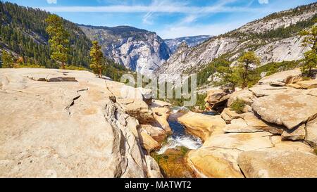 Panoramic view of the Yosemite National Park, California, USA.