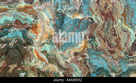 The tile of turquoise raw gemstone texture. Colorful background. 2d illustration - Stock Photo