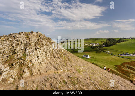 Views of Mwnt Church and the surrounding scenery, Ceredigion, Wales UK - Stock Photo