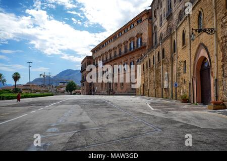 Palermo, Italy, Sicily August 24 2015. Palazzo dei Normanni, is the seat of the regional council and the presidency of the region. - Stock Photo