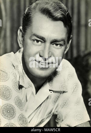 Portrait of American actor Alan Ladd - Stock Photo