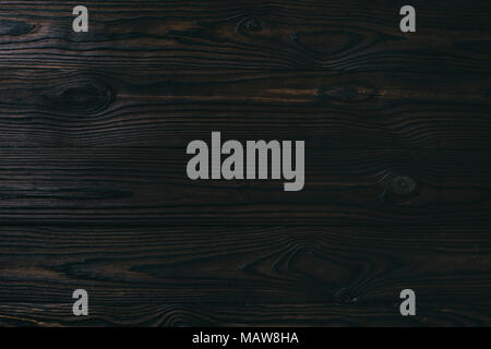 close up view of blank dark wooden background - Stock Photo