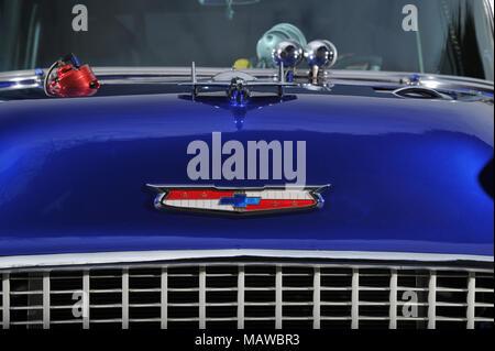 1000bhp 1955 Chevy Bel Air door slammer dragster - Stock Photo
