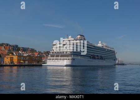 Viking Star docked at Stavanger, Norway - Stock Photo