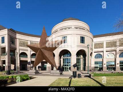 The exterior of the Bob Bullock Museum of Texas State history, Austin, Texas USA - Stock Photo