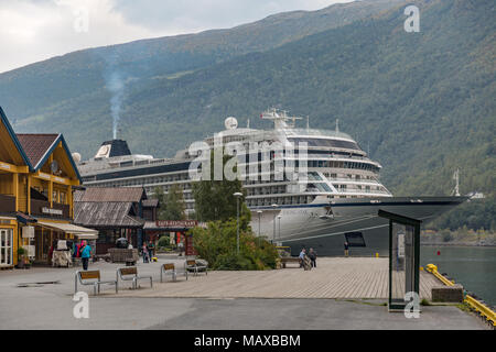 Viking Cruise ship the Star docked in Norway - Stock Photo