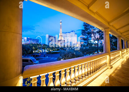Covered walkway from The Bellagio to the strip, Las Vegas, Narvarda, U.S.A. - Stock Photo