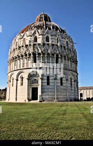 The Piazza dei Miracoli in Pisa - Stock Photo