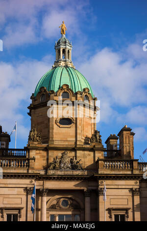 Bank of Scotland Head Office building, The Mound, Edinburgh, Scotland, UK - Stock Photo