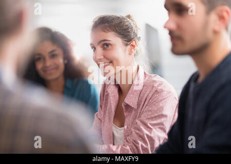 Meeting at the startup office . A working multiethnic group - Stock Photo