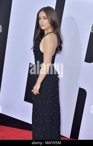 Los Angeles, California. 3rd Apr, 2018. Gideon Adlon attending the 'Blockers' premiere at Regency Village Theater on April 3, 2018 in Los Angeles, California. | Verwendung weltweit Credit: dpa/Alamy Live News - Stock Photo