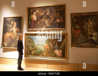 London,UK,5th April 2018,A Photocall took place at Bonhams of a private art collection from Spanish Master Sculptor Antón Casamor. The sale takes place on the 11th April 2018. Credit: Keith Larby/Alamy Live News Credit: Keith Larby/Alamy Live News - Stock Photo