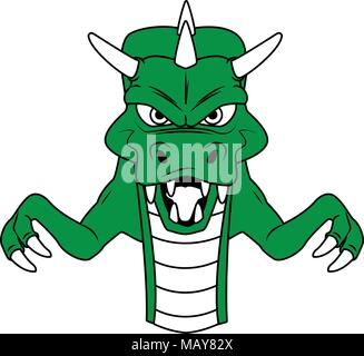 Evil dragon Videogame character cartoon - Stock Photo