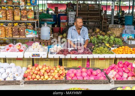 Obst auf dem Markt in Hpa-an, Myanmar, Asien  |  fruits on the Market in Hpa-an, Myanmar, Asia - Stock Photo