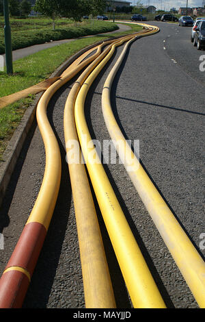 flood zone high volume water pipes, water drainage and  irrigation - Stock Photo