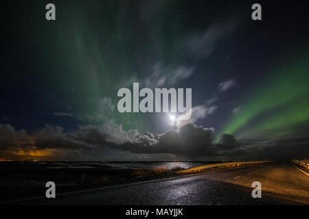 Islanda northern lights - Stock Photo