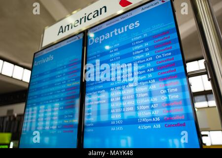 Departure Gate In American Airlines Terminal 8 Jfk