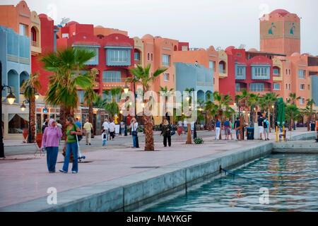 Aegypten, Hurghada, Marina - Stock Photo