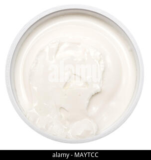 Cream isolated on white background - Stock Photo