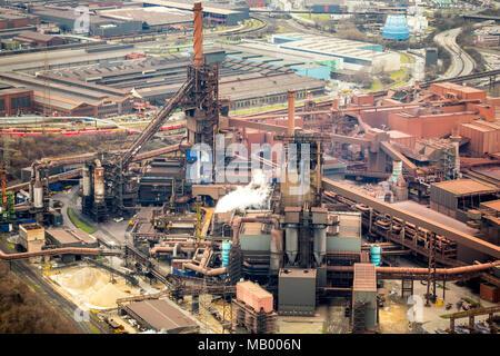 ThyssenKrupp-Stahlwerk Schwelgern, steel industry, Marxloh, Duisburg, North Rhine-Westphalia, Germany Stock Photo