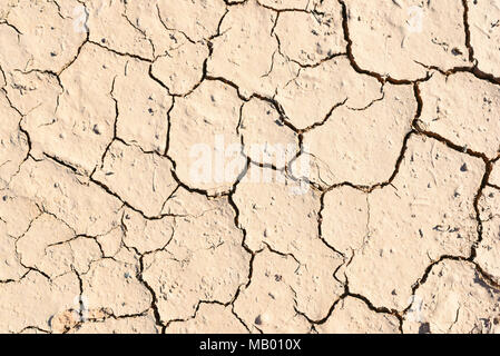 Cracked, drought ground or desert background. Dry land with cracks. - Stock Photo
