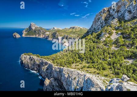 Scenic View on Cap de Formentor in Majorca - Stock Photo