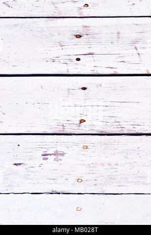 Wooden planks background, white table or white planks with copy space. Wooden background. - Stock Photo