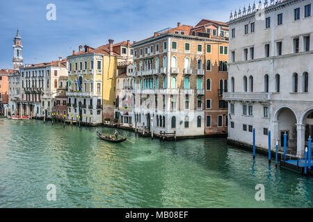 Rialto on the Grand Canal in Venice - Stock Photo
