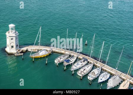 The marina on Isola S Giorgio Maggiore in Venice - Stock Photo