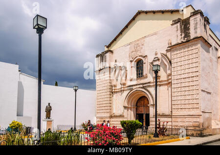 San Cristobal de las Casas, Mexico - March 26, 2015: San Agustin church facade in San Cristobal de las Casas, Chiapas - Stock Photo
