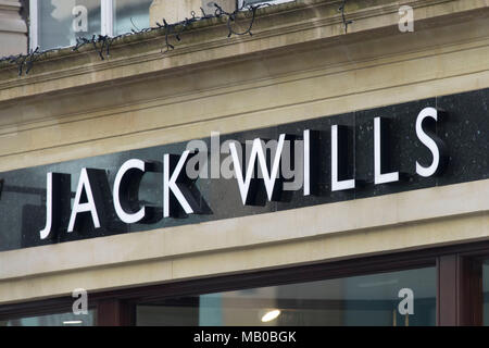 Jack Wills clothing store shop sign logo. - Stock Photo