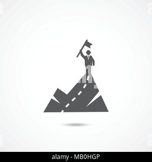 Success icon on white - Stock Photo