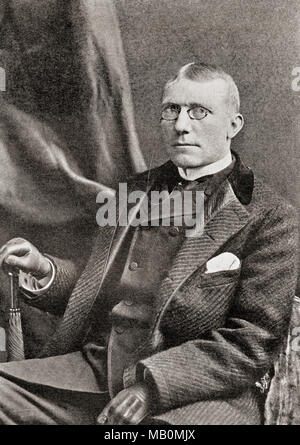 James Whitcomb Riley, 1849 –1916.  American writer, poet, and best-selling author.  From The International Library of Famous Literature, published c. 1900 - Stock Photo