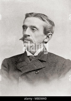 Frank Richard Stockton, 1834 – 1902.  American writer and humorist.  From The International Library of Famous Literature, published c. 1900 - Stock Photo