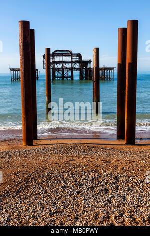 England, East Sussex, Brighton, West Pier