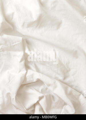 white bed sheet background. White Wrinkled Cotton Fabric Bed Sheets Textured Background - Stock Photo Sheet