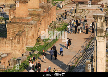 Via Sacra (Sacred Road) in Foro Romano (Forum Romanum) in Historic Centre of Rome listed World Heritage by UNESCO in Rome, Italy. April 28th 2011 © Wo - Stock Photo