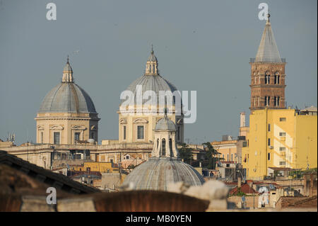 Basilica Papale di Santa Maria Maggiore (Papal Basilica of Saint Mary Major) in Historic Centre of Rome listed World Heritage by UNESCO in Rome, Italy - Stock Photo