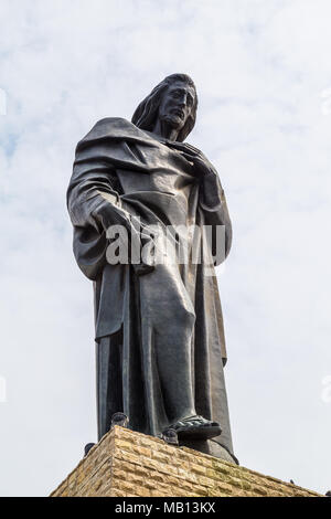 Guayaquil, Ecuador, December 20, 2016: The Monument to the Sacred Heart of Jesus of Guayaquil, is a sculpture in honor of Jesus of Nazareth. It is loc - Stock Photo