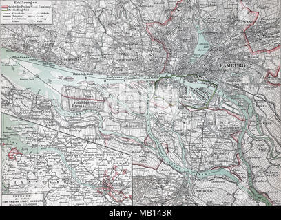 original old map of germany from 1875 geography textbook stock photo 25786265 alamy. Black Bedroom Furniture Sets. Home Design Ideas